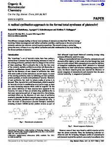 A radical cyclization approach to the formal total