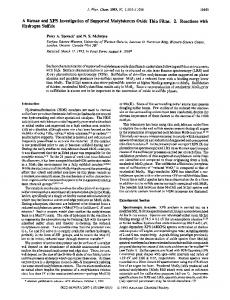 A Raman and XPS Investigation of Supported Molybdenum Oxide