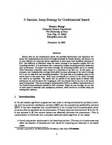 A Random Jump Strategy for Combinatorial Search - Semantic Scholar