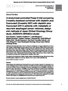 A randomized controlled Phase III trial comparing 2 ... - Oxford Journals