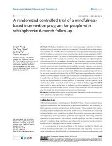 a randomized controlled trial of a mindfulness