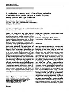 A randomized crossover study of the efficacy and ... - Springer Link