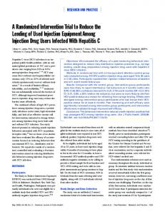 A Randomized Intervention Trial to Reduce the Lending of Used ...