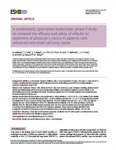 A randomized, open-label, multicenter, phase 3 ... - Oxford Journals