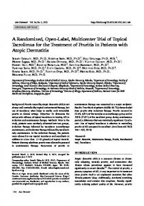 A Randomized, Open-Label, Multicenter Trial of