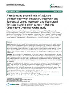 A randomized phase III trial of adjuvant chemotherapy with irinotecan ...