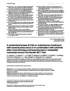 A randomized phase III trial on maintenance treatment with ...