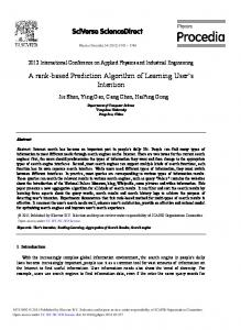A rank-based Prediction Algorithm of Learning ... - ScienceDirect.com