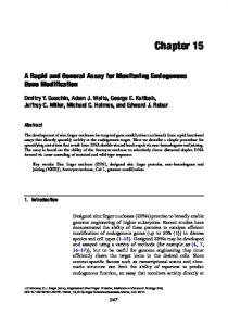 A Rapid and General Assay for Monitoring Endogenous Gene ...