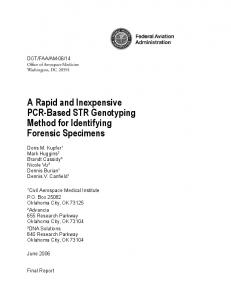 A Rapid and Inexpensive PCR-Based STR Genotyping Method for ...