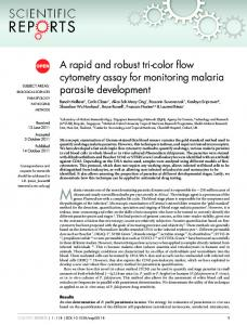 A rapid and robust tri-color flow cytometry assay for