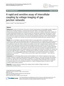 A rapid and sensitive assay of intercellular ... - Padua@Research