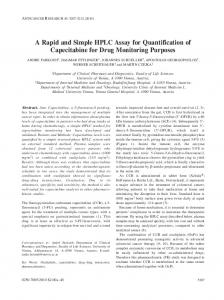 A Rapid and Simple HPLC Assay for Quantification of Capecitabine for ...