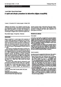 A rapid and simple procedure to determine stigma ... - Springer Link