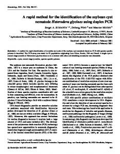 A rapid method for the identification of the soybean cyst nematode ...