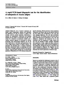 A rapid PCR-based diagnostic test for the ...