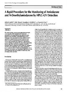 A Rapid Procedure for the Monitoring of Amiodarone and N ...