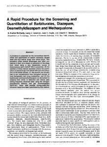 A Rapid Procedure for the Screening and Quantitation of Barbiturates ...