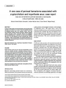 A rare case of perineal hamartoma associated with cryptorchidism and ...