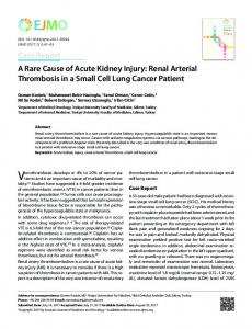 A Rare Cause of Acute Kidney Injury: Renal Arterial ...