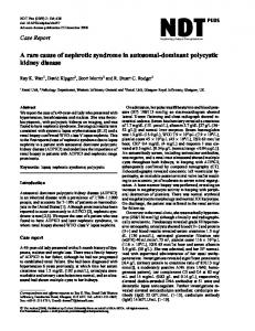 A rare cause of nephrotic syndrome in autosomal ... - Oxford Journals