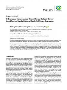 A Reactance Compensated Three-Device Doherty Power Amplifier for ...