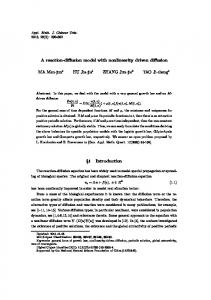 A reaction-diffusion model with nonlinearity driven ... - Springer Link