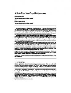 A Real-Time Java Chip-Multiprocessor - JOP