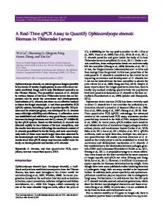 A Real-Time qPCR Assay to Quantify Ophiocordyceps ... - Springer Link