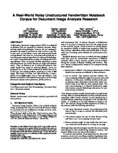 A Real-World Noisy Unstructured Handwritten Notebook Corpus for ...
