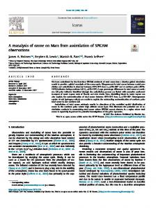 A reanalysis of ozone on Mars from assimilation of SPICAM observations