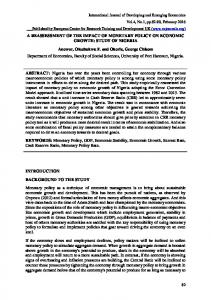 A REASSESSMENT OF THE IMPACT OF MONETARY POLICY ON ...