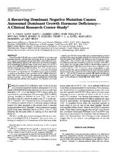 A recurring dominant negative mutation causes ...