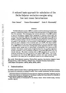 A reduced basis approach for calculation of the Bethe-Salpeter ...