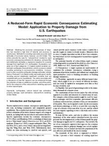 A Reduced-Form Rapid Economic Consequence Estimating Model