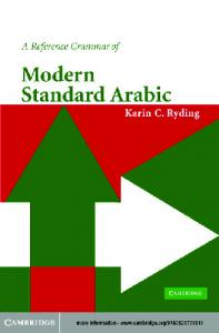 A Reference Grammar of Modern Standard Arabic - Readers StuffZ