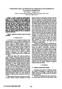 A Reformed Lattice Gas Model and Its Application in the ... - IEEE Xplore