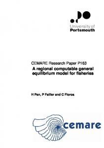A regional computable general equilibrium model for fisheries