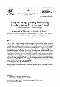 A regional energy planning methodology including renewable energy ...