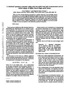 A relational quantum computer using only two-qubit total spin ...