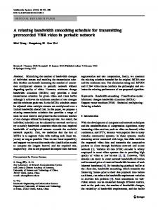 A relaxing bandwidth smoothing schedule for ... - Springer Link
