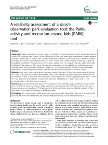 A reliability assessment of a direct-observation ... - Semantic Scholar