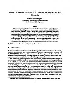 A Reliable Multicast MAC Protocol for Wireless Ad ... - Semantic Scholar
