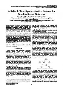 A Reliable Time Synchronization Protocol for ... - Academy Publisher