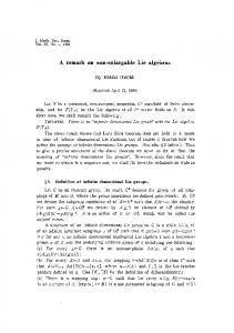 A remark on non-enlargable Lie algebras - Project Euclid