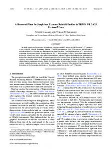 A Removal Filter for Suspicious Extreme Rainfall ... - AMS Journals