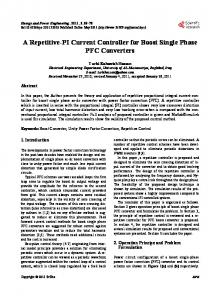 A repetitive-PI Current Controller for Boost Single Phase PFC Converters