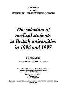 a report - Medical Schools Council
