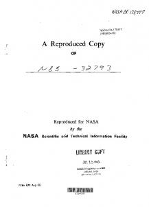 A Reproduced Copy - NASA Technical Reports Server (NTRS)