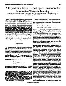 A Reproducing Kernel Hilbert Space Framework for Information ...